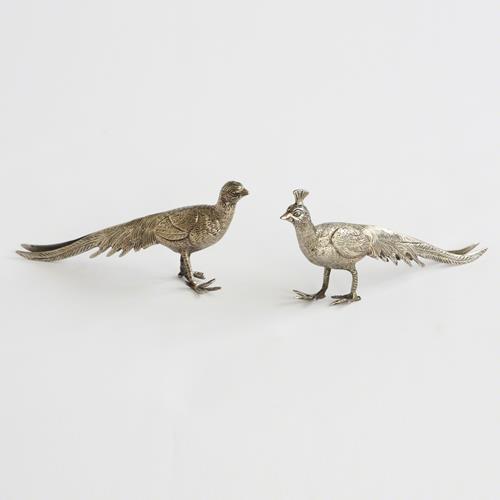Pair of Metal Peacocks