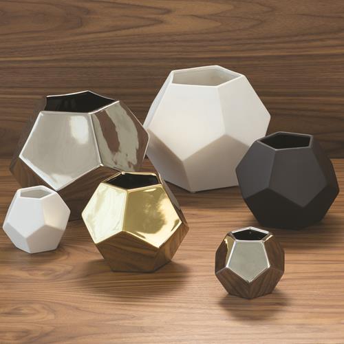 Faceted Vase-Silver