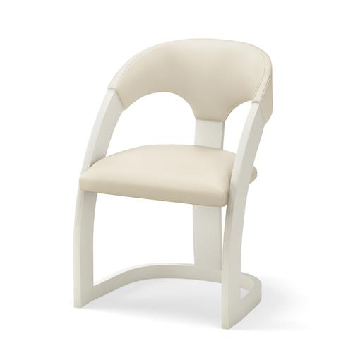 Delia Chair-Antique White-Milk Leather
