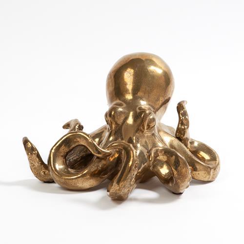 Octopus-Matte Gold