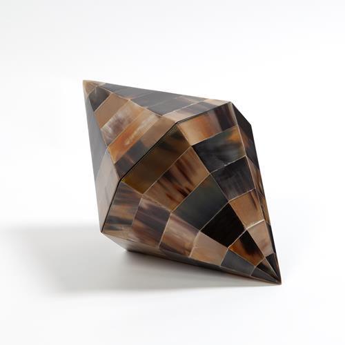 Triangle Cone Box-Brown Horn