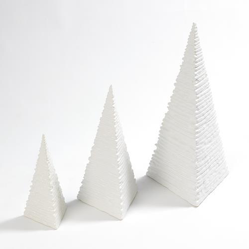 Maxime Pyramid-Matte White