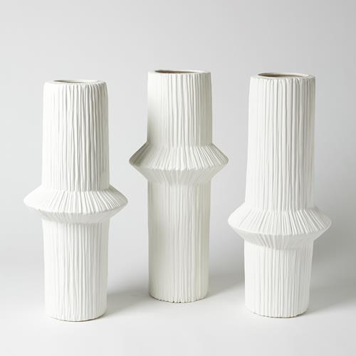 Ascending Ring Vases - Matte White