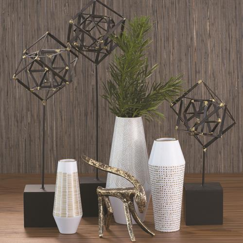 Ballinger Vase-Gold