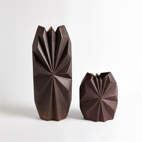 Star Facet Vases-Bronze