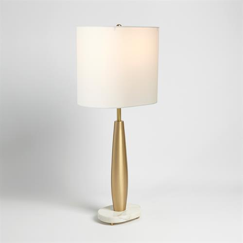 Tapering Buffet Lamp-Brass