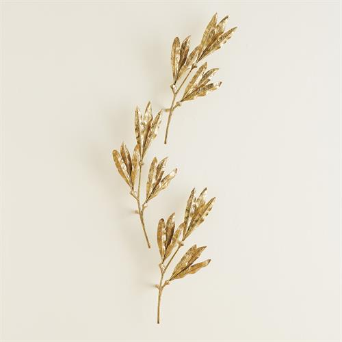 Mango Leaves Wall Decor-Brass