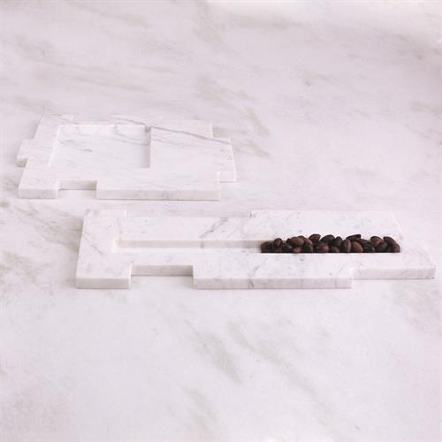 Caillois Tray-White Marble