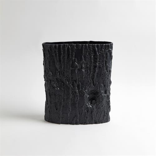Acacia Ellipse Vase-Matte Black