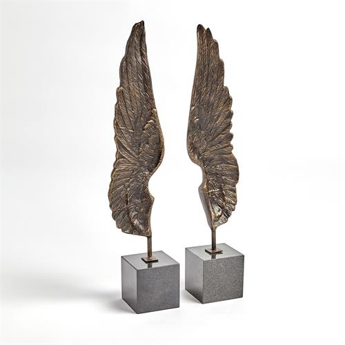 Wings Sculpture-Bronze-Pair