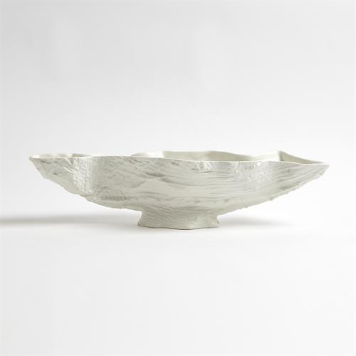 Serpentine Lime Bowl-Matte White