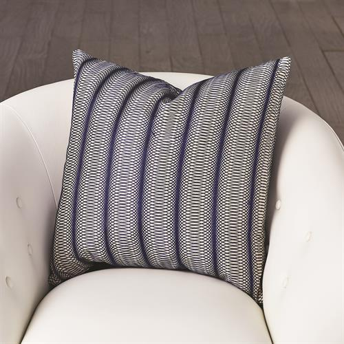 Penny Pillow-Blue Embroidered