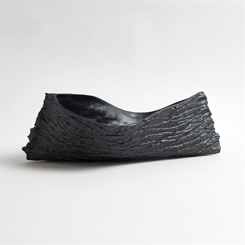 Twisty Japanese Cherry Bowl-Matte Black