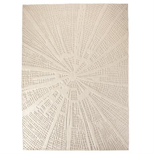 Vortex Rugs-Ivory/Ivory