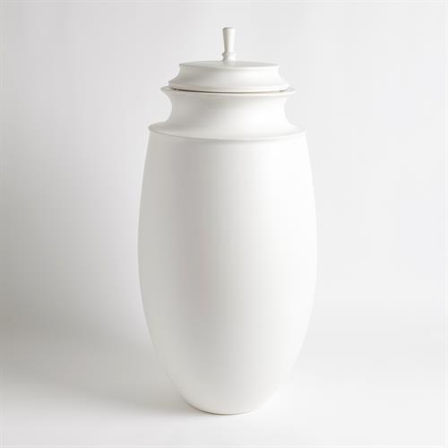 Grande Cornice Jar-Matte White