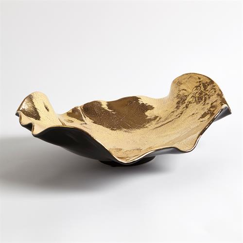 Wave Platter-Gold Crackle