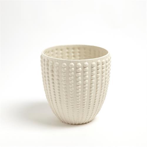 Nail Head Bowl-Rustic White