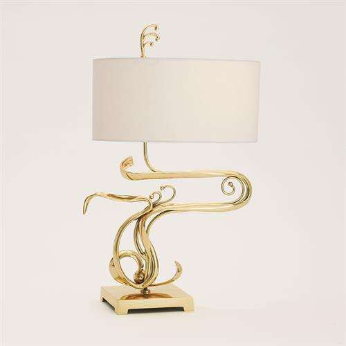 Fete Table Lamp-Brass