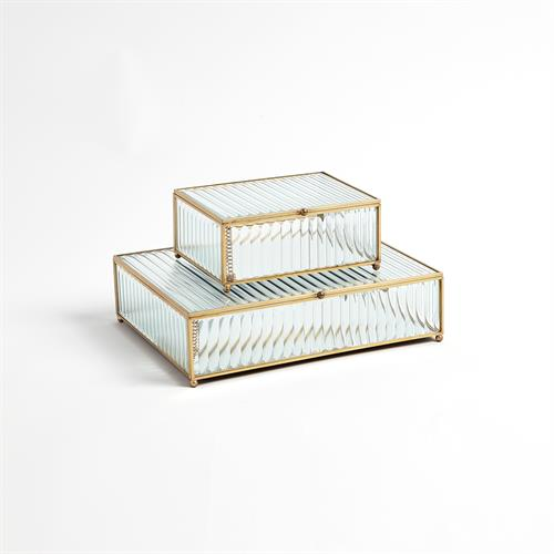 Reeded Glass Boxes-Clear