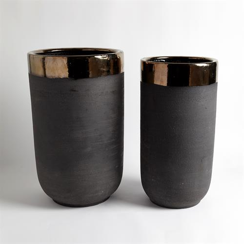 Banded Bronze Container