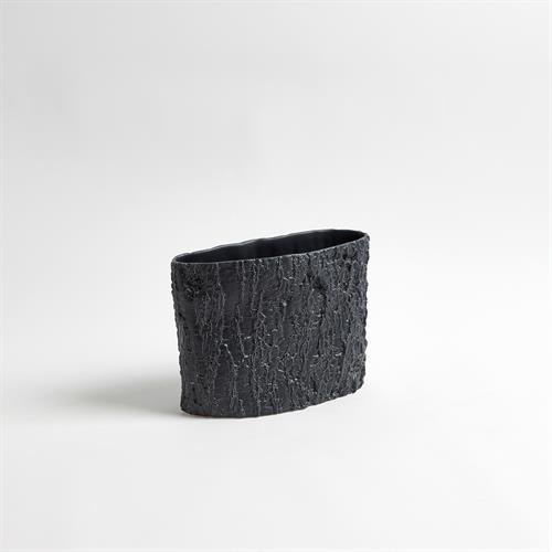 Alder Ellipse Vase-Matte Black