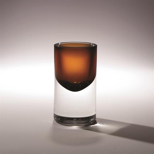 Thick Cylinder Vase-Tobacco