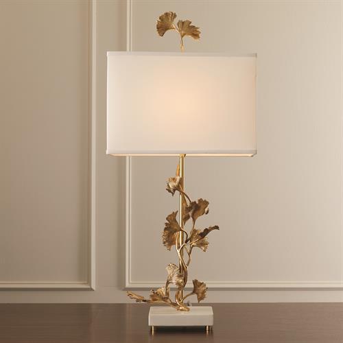 Ginkgo Table Lamp-Brass