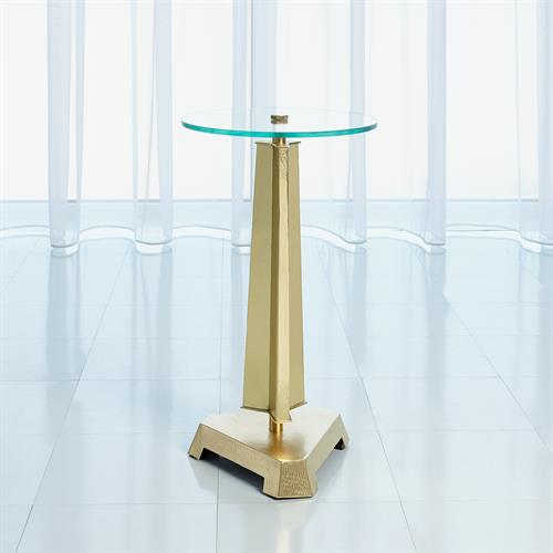 Tapering Tripod Table-Brass