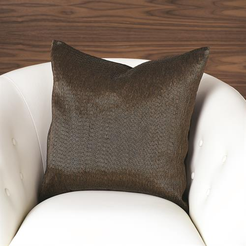 Bugle Beaded Pillow-Bronze