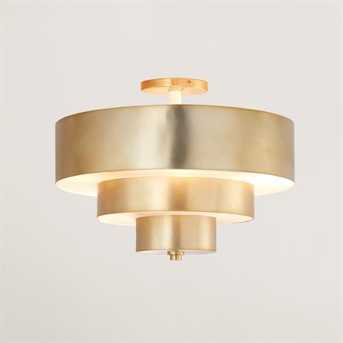 Saturn Flush Mount-Antique Brass