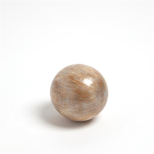Enamel Sphere-Pale Gold