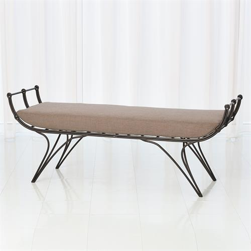 Artisan Bench w/Dark Grey Cushion