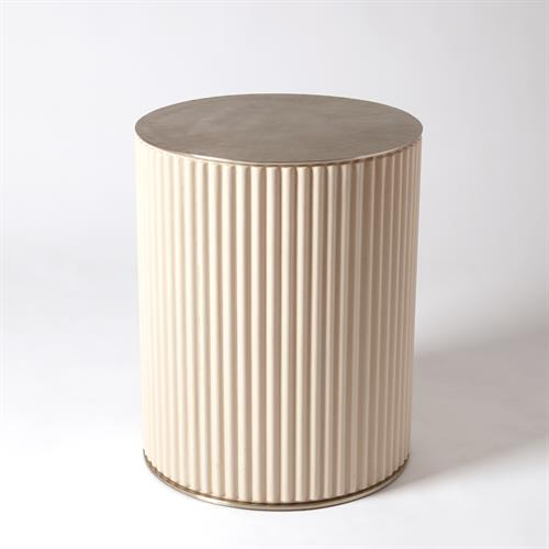 Camille Side Table-White Bronze