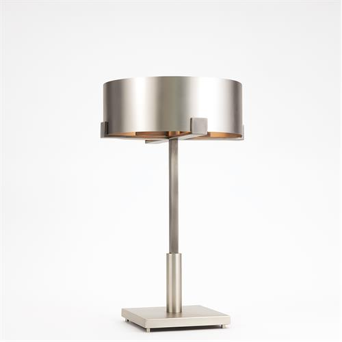 Empire Table Lamp-Nickel/Graphite