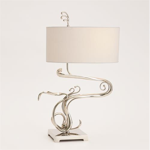 Fete Table Lamp-Nickel