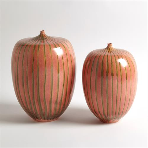 Striped Melon Vase
