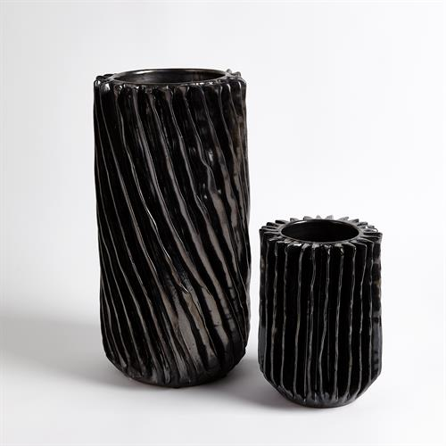 Radiator Swirl Vase-Gunmetal