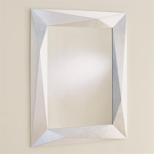 Angular Mirror-Silver Leaf