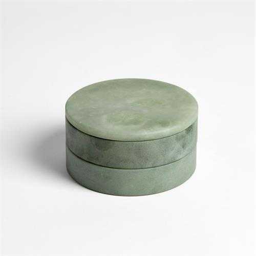 Alabaster Swivel Box-Green