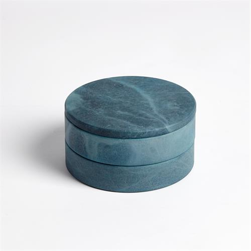 Alabaster Swivel Box-Blue
