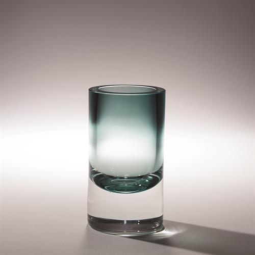 Thick Cylinder Vase-Azure