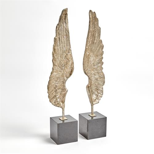 Wings Sculpture-Silver Leaf-Pair