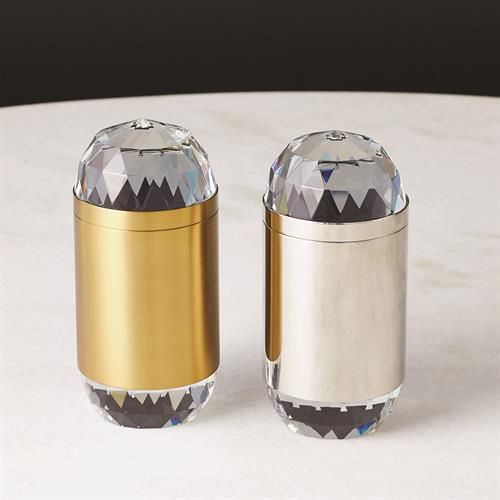 Banded Crystal Candle-Nickel
