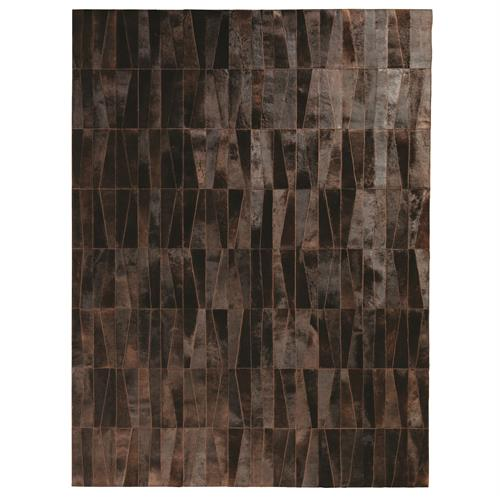 Inlay Hair-on-Hide Rug-Chocolate