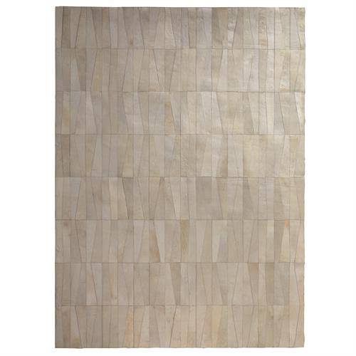 Inlay Hair-on-Hide Rug-Ivory