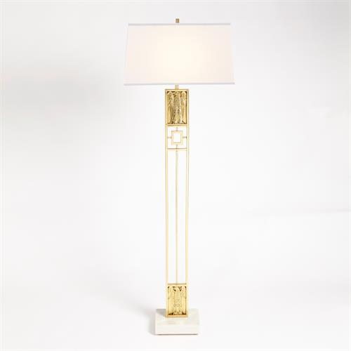 Republic Floor Lamp-Brass