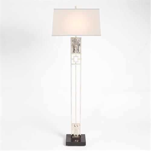 Republic Floor Lamp-Nickel