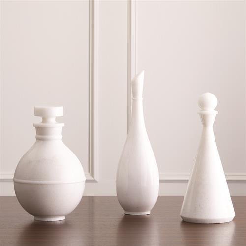 Marble Bottles- White