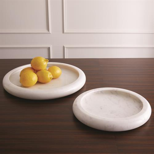 Rolled Rim Bowls- White Marble