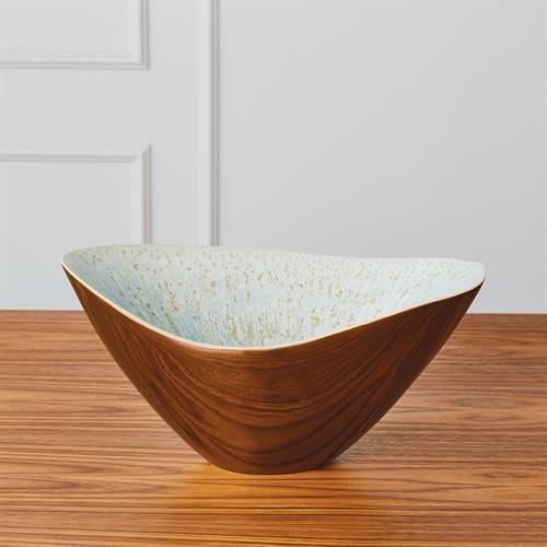 Marta's Bowl-Bronze Reactive Blue